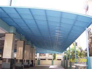 Finroof Pvc Roofing Systems Polycarbonate Roofing Sheet